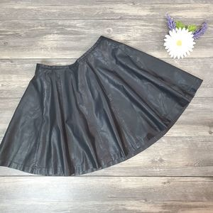 L'Amour By Nanette Lapore Faux Leather Skirt